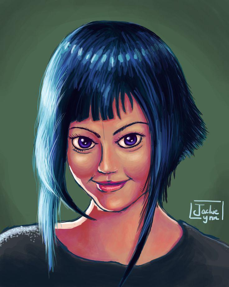 My Drawing of random girl from internet