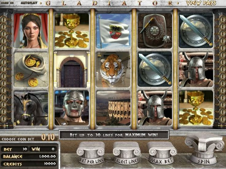 ⚔Gladiator⚔  Gladiator 3D slots are made up of 5-reels, 30-paylines, two-way payouts, wilds, scatters, and four bonus games from online casinos using #Betsoft software! Majestic music, roaring crowds, and a chanting chorus ring throughout the play in the #Gladiator 3D #slot game, making it exciting just to hit the spin button.  http://www.gamesandcasino.com/slots/gladiator.html