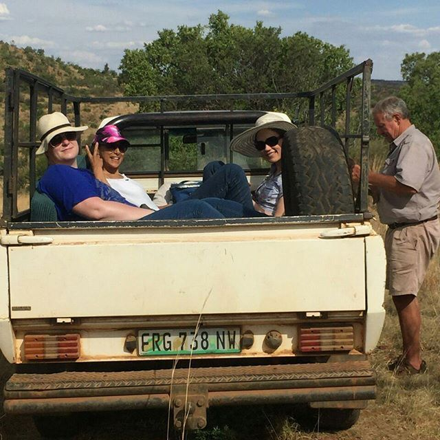 How to travel in style. Standing in the back of one of those things whilst it is dancing over rocks is quite a feat. But rather fun!! . . . . . . . . #refreshholidays #Holidays #bakkie #4x4 #fellowship #outincreation #adventure #explorers