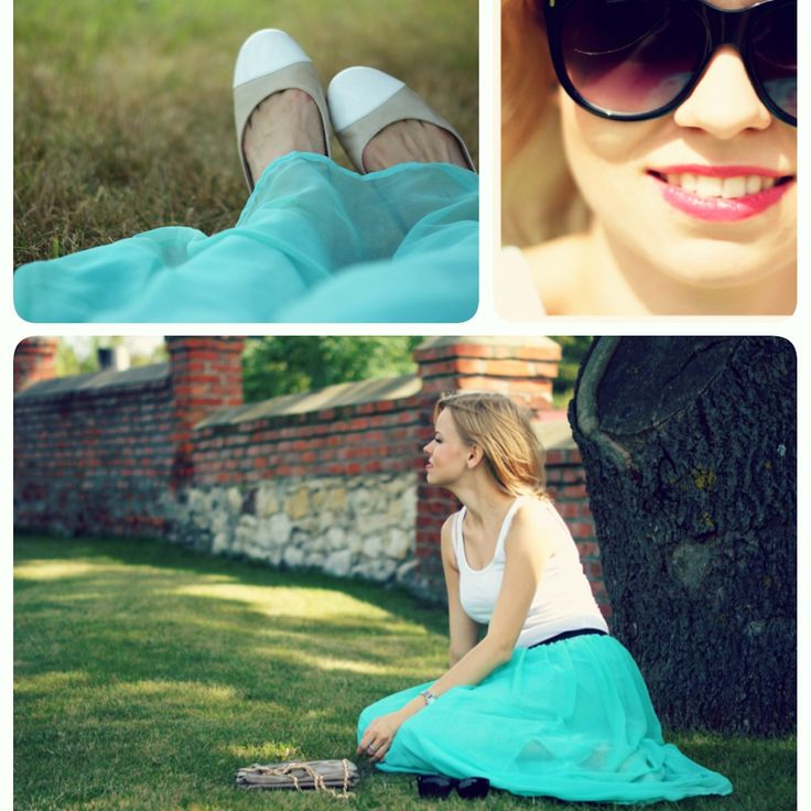 Maxi mint skirt. Simply and fast!