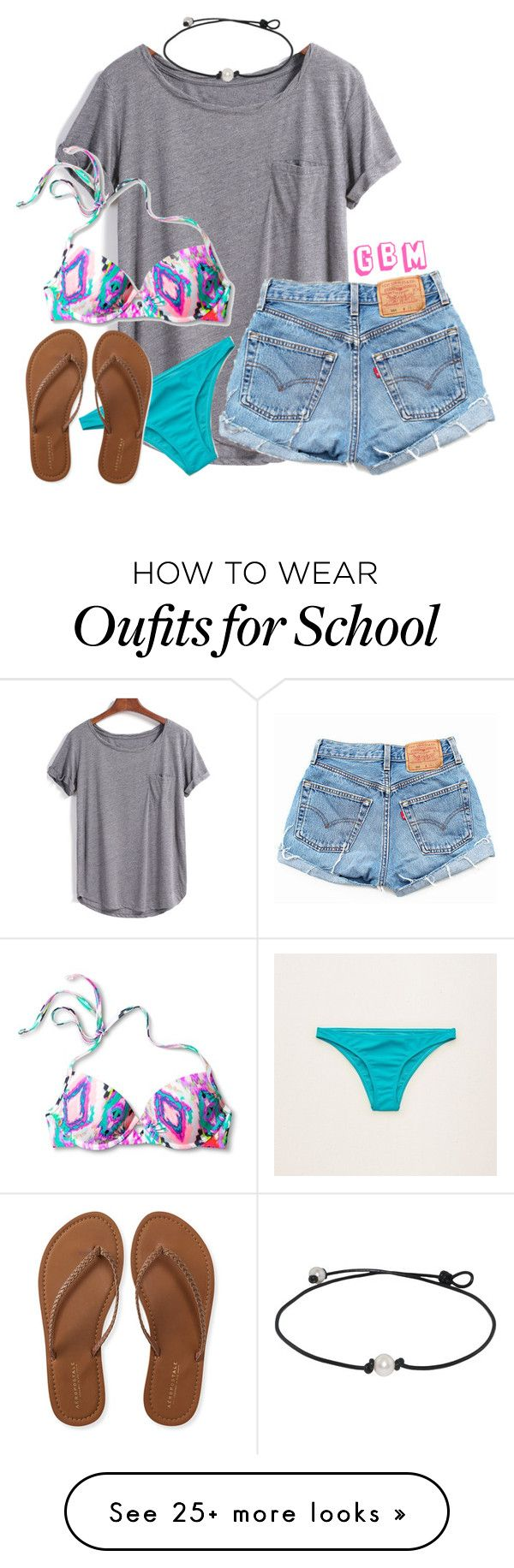 """Last day of school tomorrow"" by preppy-horsegirl on Polyvore featuring Xhilaration, Aerie, Aéropostale and Levi's"