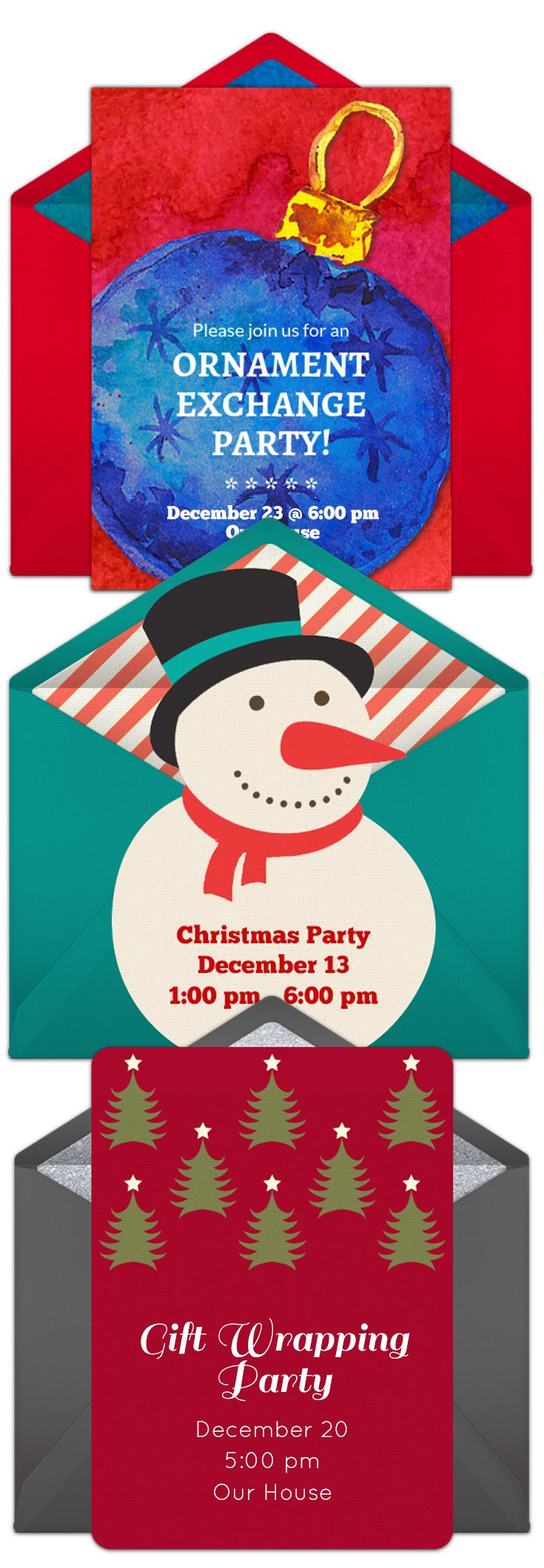 9 best Invitations images on Pinterest | Christmas parties, Xmas and ...