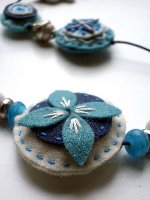 Felt beads by cristina.martindelcamporamirz