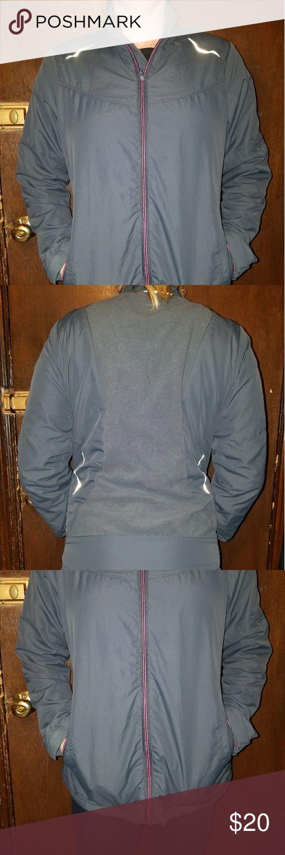 Women's Running Jacket Great running jacket! It is lightweight, but quite warm. The inside has a thin fleece lining. Jackets & Coats