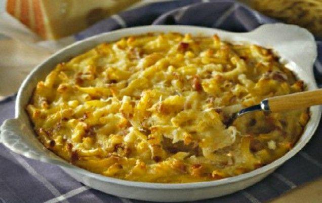 Κοντά ζυμαρικά με τυριά και μπέικον - iCookGreek