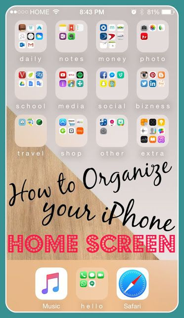 How to Organize Your iPhone Home Screen⎹ Julie SanCHIC Live an Organized Life! #iPhone #Organize #Apps