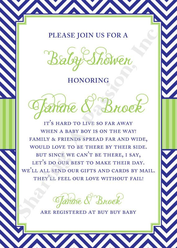 25 best ideas about Virtual baby shower – Baby Birth Party Invitation