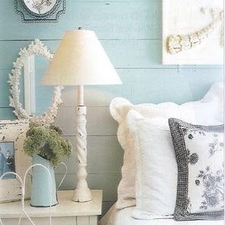 Aqua and white....a pretty cottage color scheme
