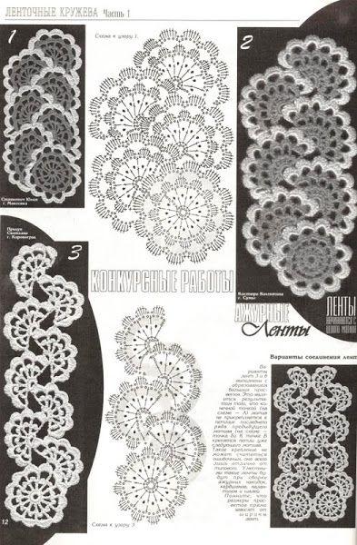 ribbon crocheted pattern