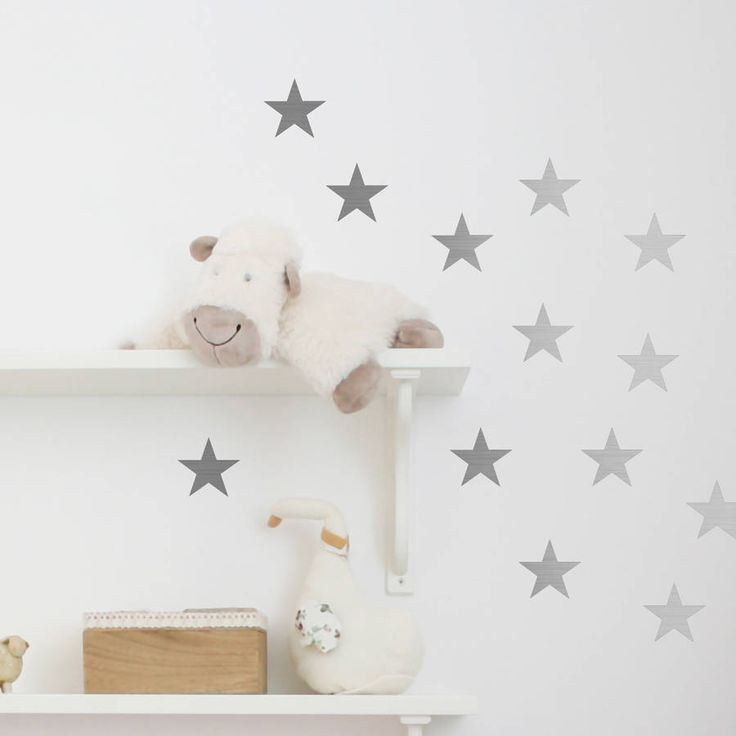 metal effect confetti stars wall stickers by nutmeg | notonthehighstreet.com