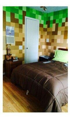 boy bedroom minecraft