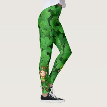 St Patrick's Day Leggings Saint Patrick Pants - click/tap to personalize and buy