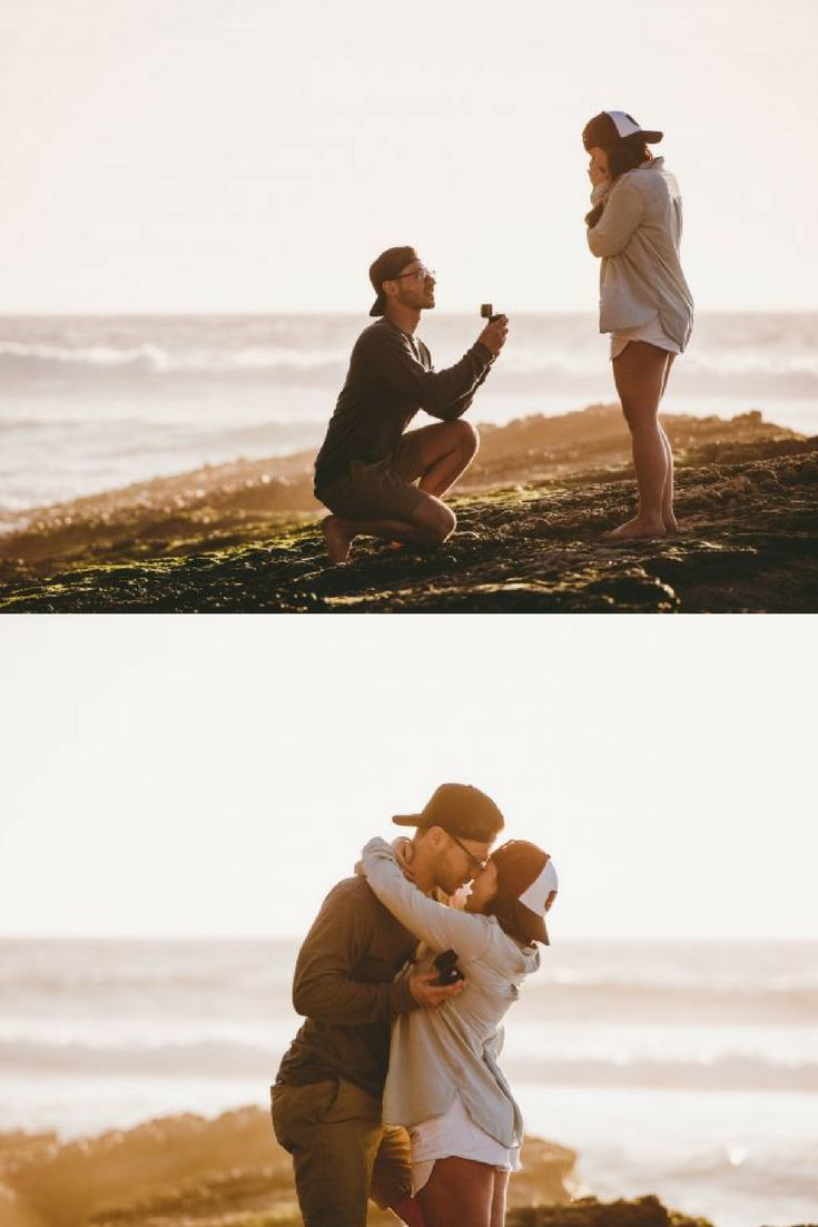 Seriously swooning over this gorgeous beach proposal on the coast of California!