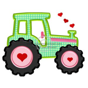 Valentine Tractor Applique