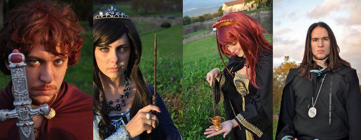 Potter fenchy party - Costumes : les fondateurs de Poudlard - hogwarts founders - griffindor , slytherin, ravenclaw, hufflepuff - gryffondor, serpentard, serdaigle, poufsouffle - harry potter cosplay