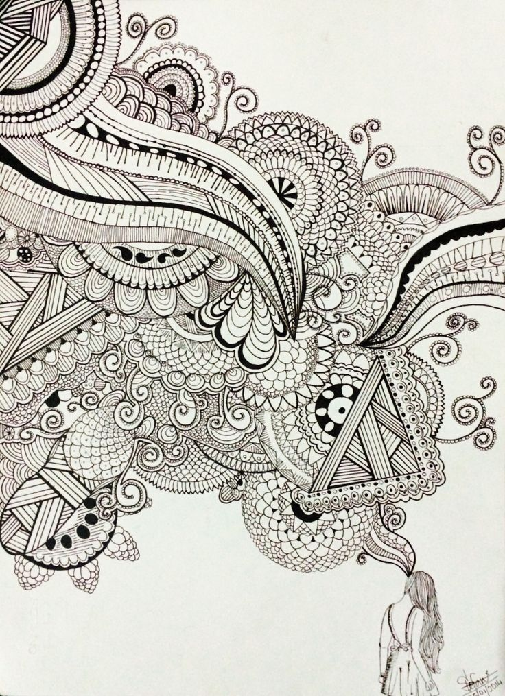 A girl's imagination