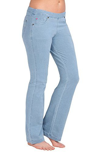 PajamaJeans  Lightweight Bootcut Light Blue Wash Stretch Denim Jeans for Women XXS 00 ** Check out this great product.