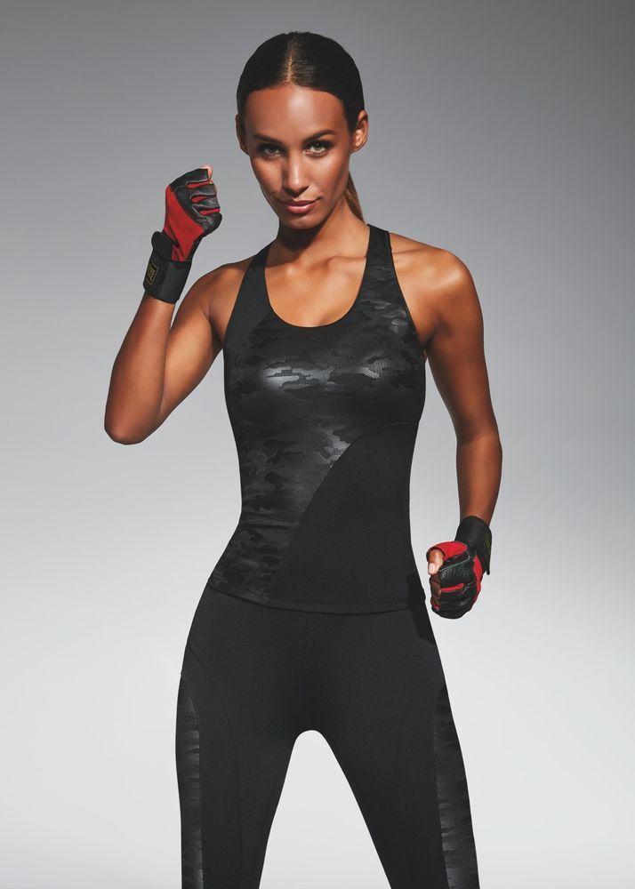 Débardeur haut de sport femme cam bariolé noir BAS BLACK COMBAT TOP 50 S M L   Hauts 580232bcbb3