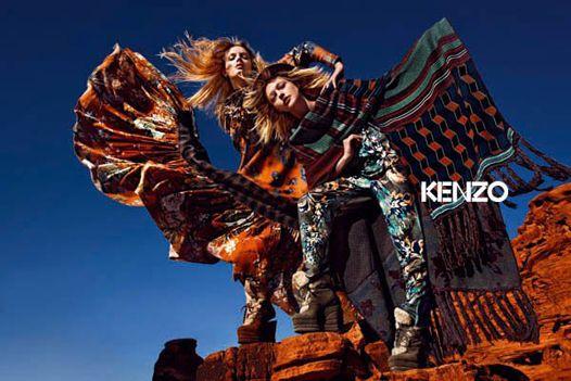 Лили Дональдсон и Саша Пивоварова в рекламе Kenzo