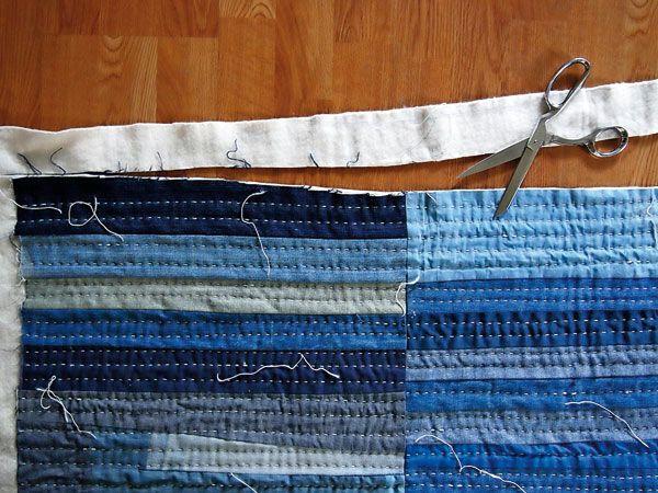 Patchwork denim quilt tutorial from Maura Grace Ambrose of Folk Fibers via Mollie Makes