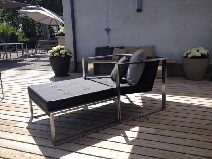 Poltrona easy chair with footrest, #garden furniture, #Lifeform.dk
