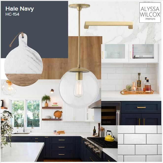 Complete The Look With White Upper Cabinets Navy Blue