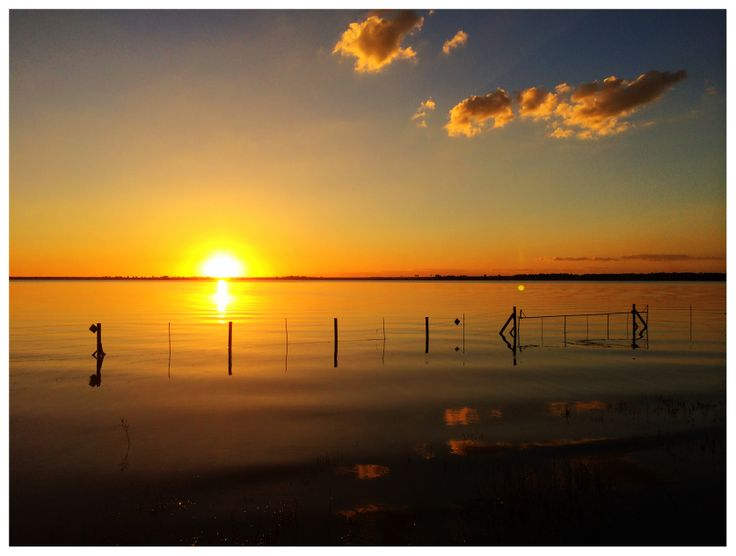 sunset at the vaal dam