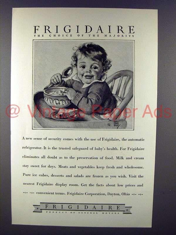 1928 Frigidaire Refrigerator Ad - The Choice of the Majority