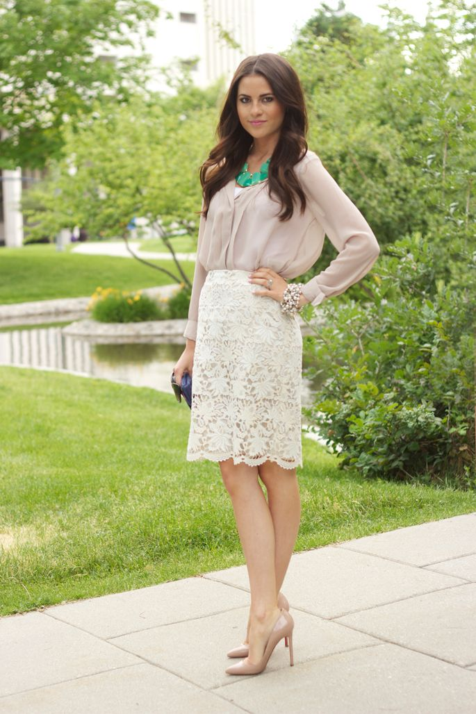 IDEA:  Bridesmaids,   Lace skirts instead of dresses.