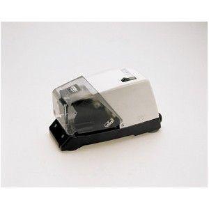 Grapadora eléctrica Rapid 100E para grapado intensivo. Modelo de carga frontal. Equipada con ventosas de adhesión. Capacidad de grapado de hasta 50 hojas.