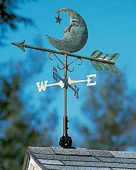 i love this celestial weather vane - Weather Vanes