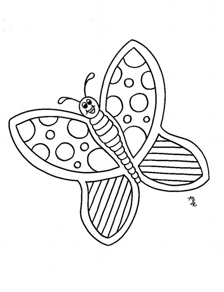 geometric butterfly coloring pages - photo #27