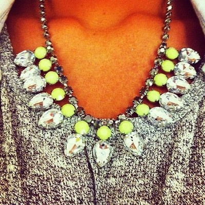 Love: Neon Necklace, Fashion, Statement Necklaces, Neon Statement, Style, Diamond, Jewelry, Accessories