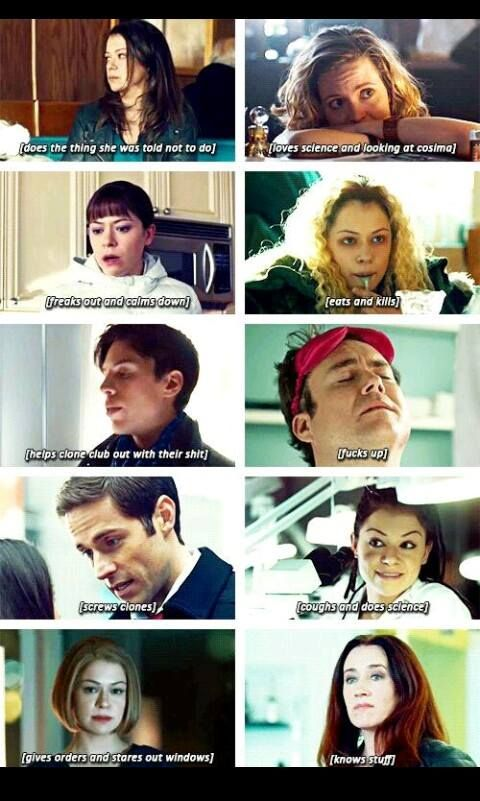 Orphan Black characters: A summary....basically everything you need to know..haha