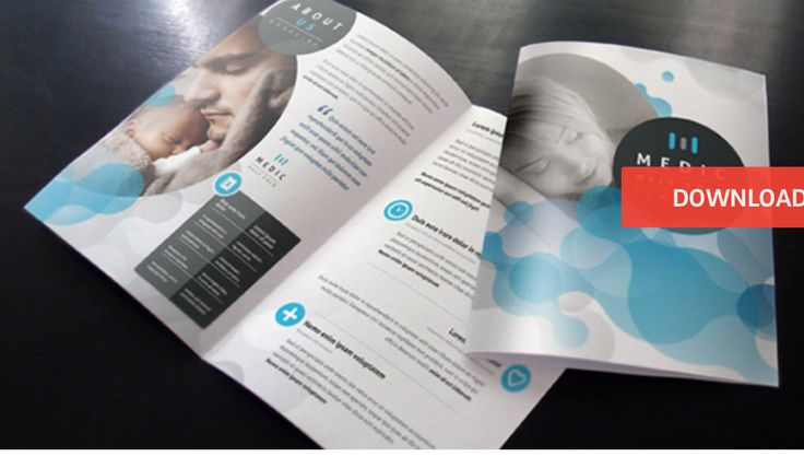 Sample Bi Fold Brochure 8 Modern Medical And Healthy Brochure  Templates Free Adobe INDD .