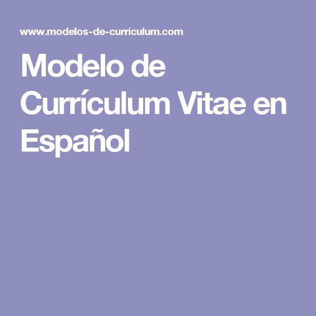 Modelos De Curriculum Vitae Simple Para Completar En Espa Ol