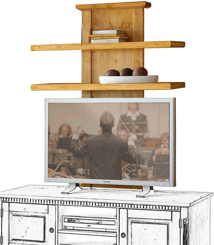 Dieses stilvolle TV-Paneel »Oxford« im Landhausstil aus massivem FSC®-zertifiziertem Fichtenholz erweitert die TV-Kombination »Oxford«. Das Paneel bietet Ablagemöglichkeiten oder auch Platz, um z.B. eine effektvolle indirekte Beleuchtung zu montieren (nicht im Lieferumfang enthalten). Maße (B/T/H): 110/34/139 cm   In folgenden Farben erhältlich:  Korpus/Front: Cremeweiß patiniert, Korpus/Front:...