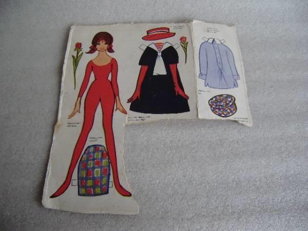 Påklædningsdukke på ark fra OTA  - Christel / pige i rød