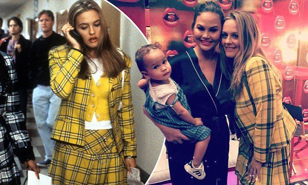 Alicia Silverstone dresses as Clueless character Cher