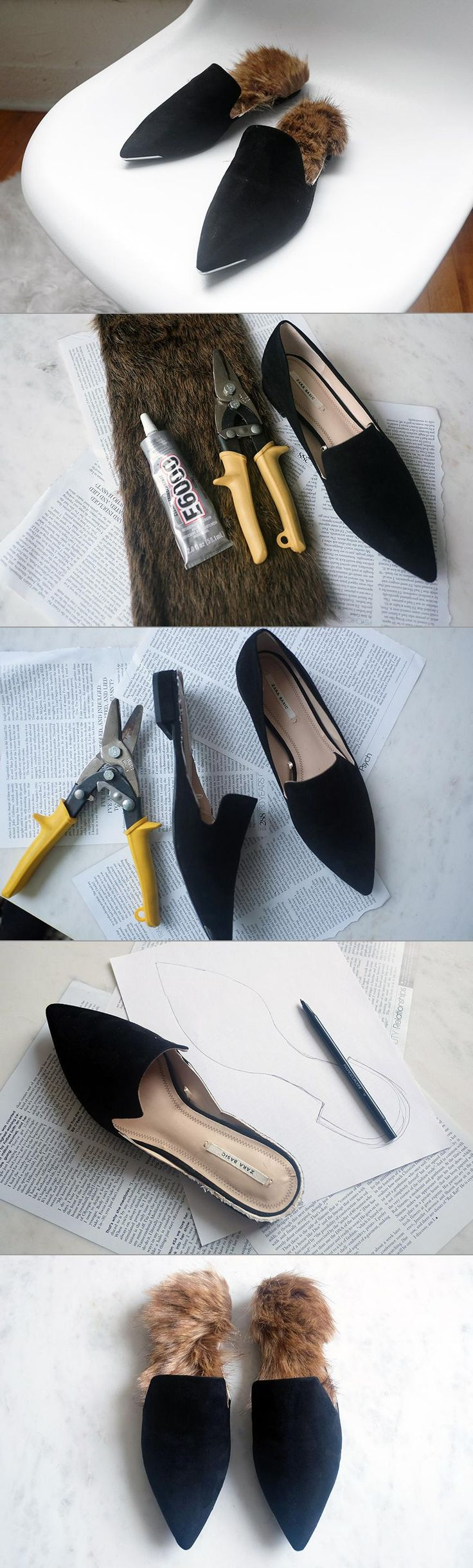 DIY Fur Slip-Ons - When I spotted the Gucci fur-lined loafers on the Fall 2015 runway show, I was immediately obsessed. They are so chic, and the fur contrast gives them a playful touch. Unfortunately, these beauties also come with a very high price tag. For trendier pieces like these, I love to turn to DIY so I don't have to break the bank. Click over to eBay to see how to make these in four simple steps.