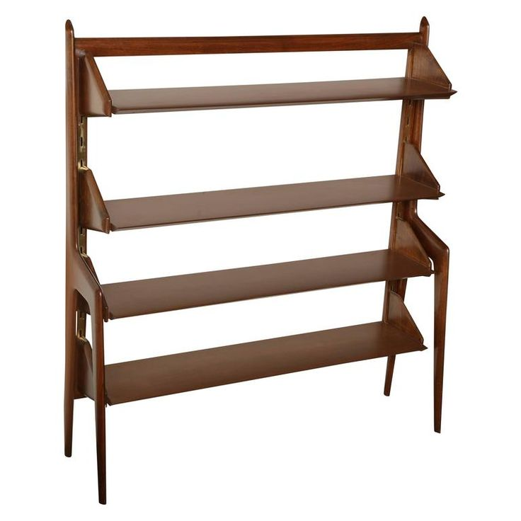 Bookcase Made in Milan Designed by Ico Parisi   From a unique collection of antique and modern bookcases at https://www.1stdibs.com/furniture/storage-case-pieces/bookcases/