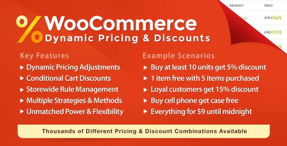 Dynamic Pricing  Discounts lets you manage product pricing rules and cart discounts easily. Features and flexibility are not matched by any alternative.