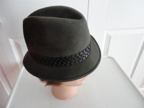 Vintage Grey Felt Men Hat 6¾ S Morgan Special