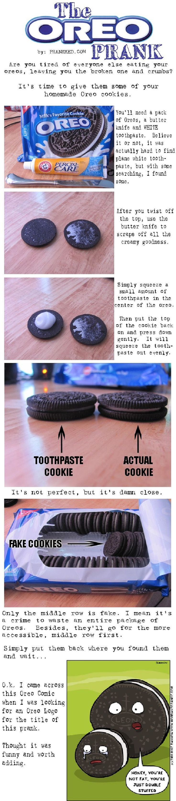 The Oreo Prank - 20 Best April Fool's Day Pranks to Fool Friends and Family | GleamItUp