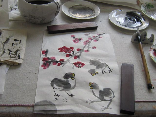 Learning how to paint The Chicken in China