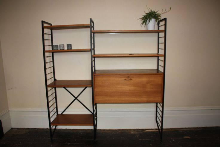 Vintage teak Ladderax bureau and shelves with the key by RecycledbyJessica on Etsy