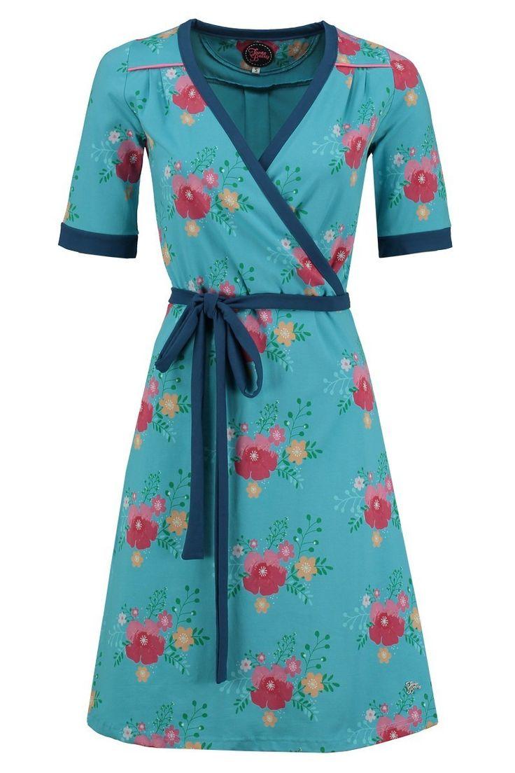 Dress Penny Poppy Blue -Tante Betsy.com