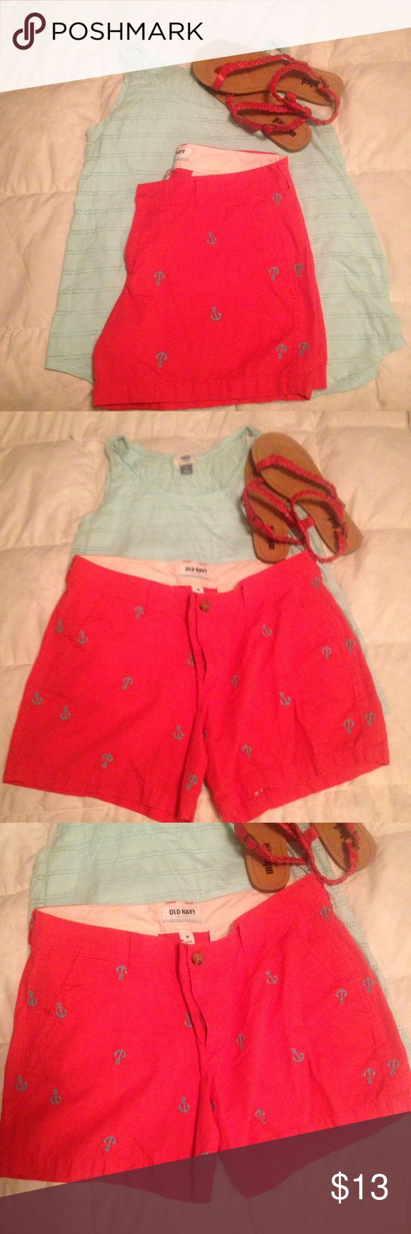 Blue anchors shorts by Old Navy Old Navy shorts with embroidered anchors; Old Navy Shorts