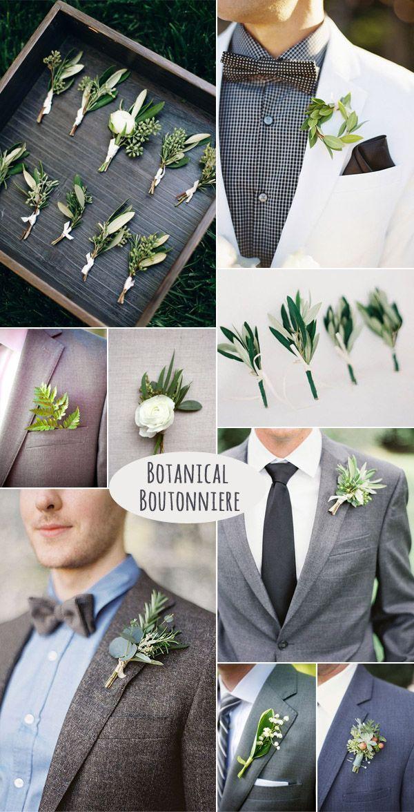 DIY stilvoller botanischer Bräutigam Boutonniere
