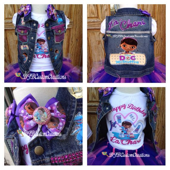 Doc Mcstuffins tutu set Tutu set doc custom by DJBCustomCreations